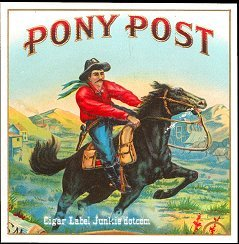 Pony Post outer cigar label