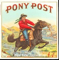 Pony Post outer cigar box label