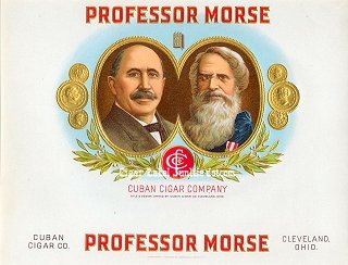 Prof Morse inner cigar label