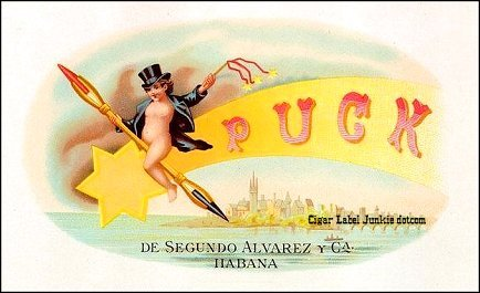 Puck - 1870's- cigar box label