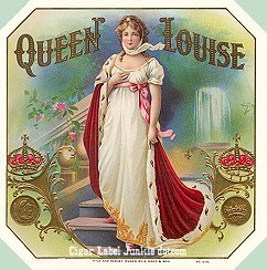Queen Louise cigar box label