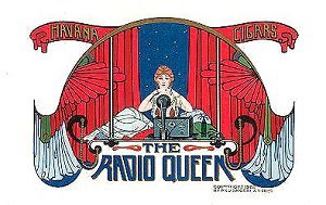 radio queen cigar box label