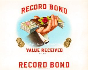 Record Bond inner cigar label