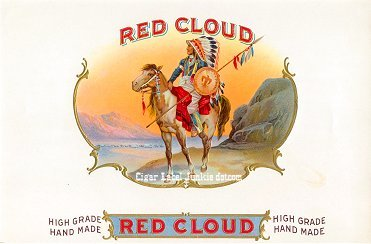 Red Cloud inner cigar label