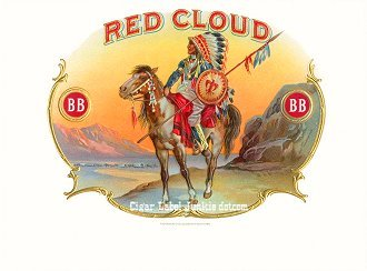 Red Cloud BB inner cigar label