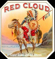Red Cloud outer cigar box label