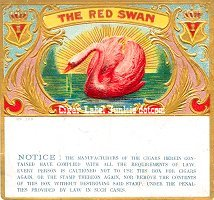 Red Swan outer cigar box label