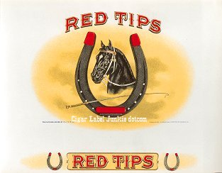 Red Tips inner cigar label