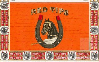 Red Tips outer cigar box label
