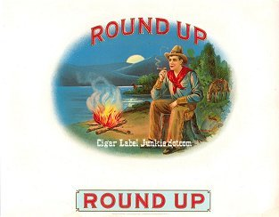 Round Up_old inner cigar label