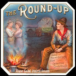 Round Up outer cigar label