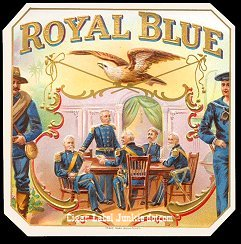 Royal Blue outer cigar label