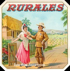 Rurales outer cigar label