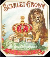 Scarlet Crown outer cigar box label