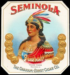 Seminola outer cigar label