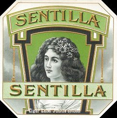 Sentilla outer cigar label