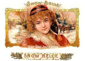 snow belle cigar box label