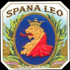 Spana Leo outer cigar label