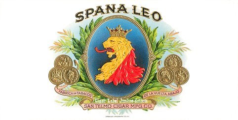 Spana Leo inner cigar label