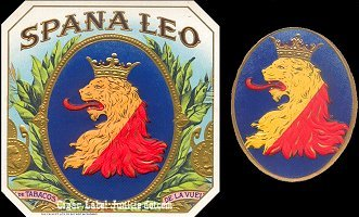 Spana Leo outer cigar box label