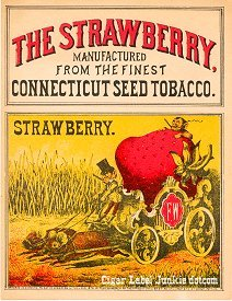 Strawberry inner cigar label
