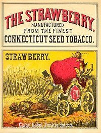 strawberry cigar box label