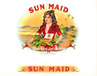 Sun Maid inner cigar label