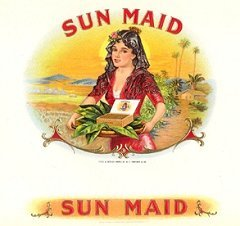 sun maid cigar box label