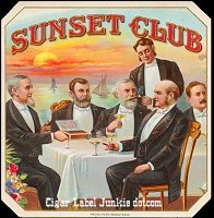 Sunset Club outer cigar box label