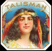 Talisman outer cigar box label