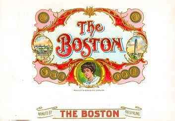 The Boston inner cigar label