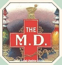 The MD outer cigar label