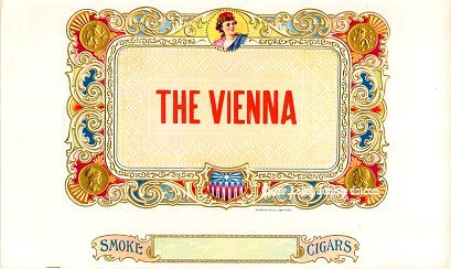 The Vienna inner cigar label