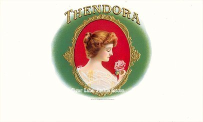 Thendora inner cigar label