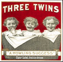 Three Twins outer cigar label
