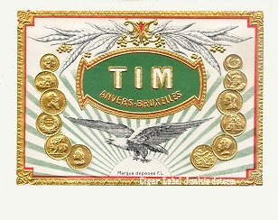 Tim inner cigar label