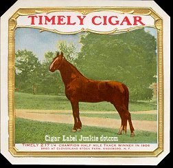 Timely Cigar outer cigar label