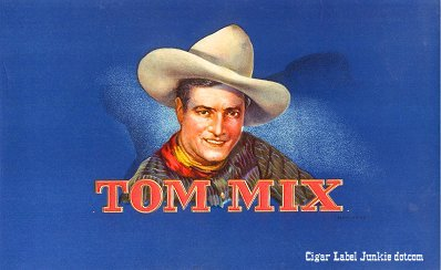 Tom Mix inner cigar label