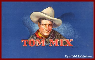 Tom Mix inner cigar box label