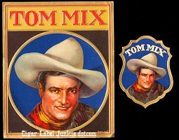 Tom Mix outer cigar box label