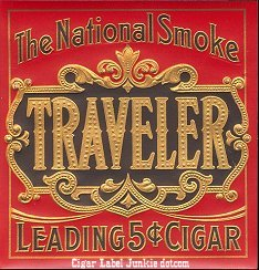 Traveler outer cigar label