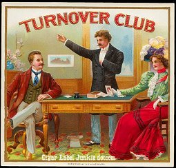 Turnover Club outer cigar label