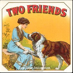 Two Friends outer cigar label