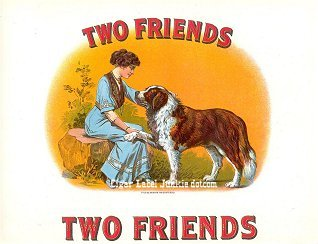 Two Friends inner cigar label