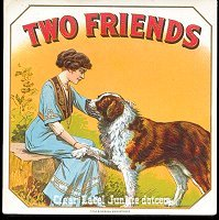 Two Friends outer cigar box label