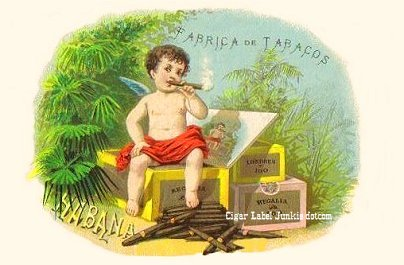 cherubs/cupid theme cigar label