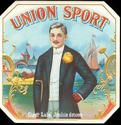 Union Sport outer cigar label