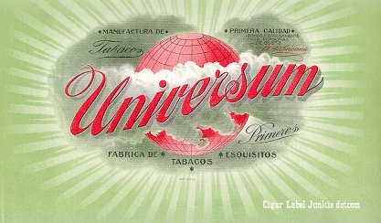Universum inner cigar label