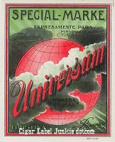 Universum outer cigar box label