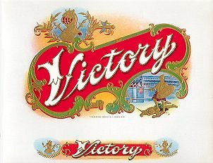 victory cigar box label